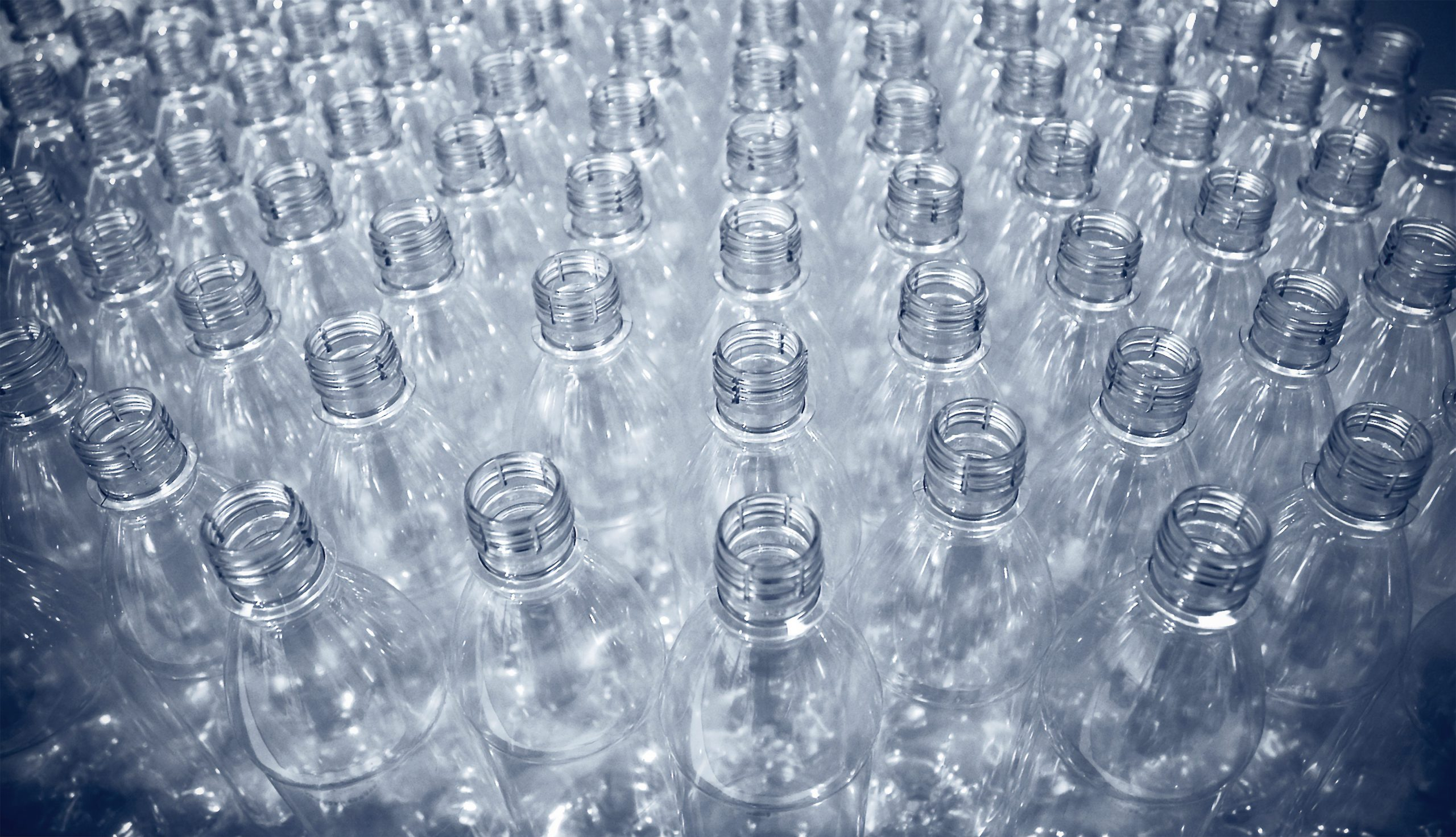 Plastic bottles empty