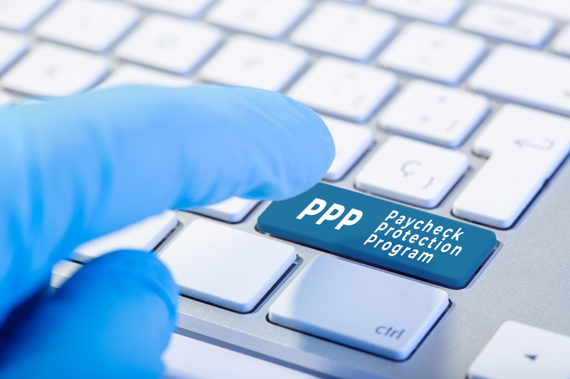 pushing PPP key on computer keyboard