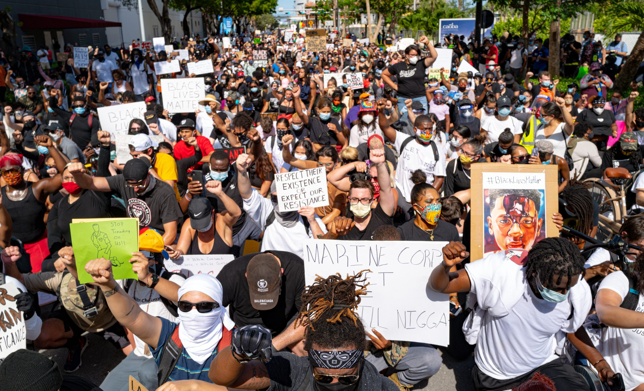 Protests in Miami, Florida