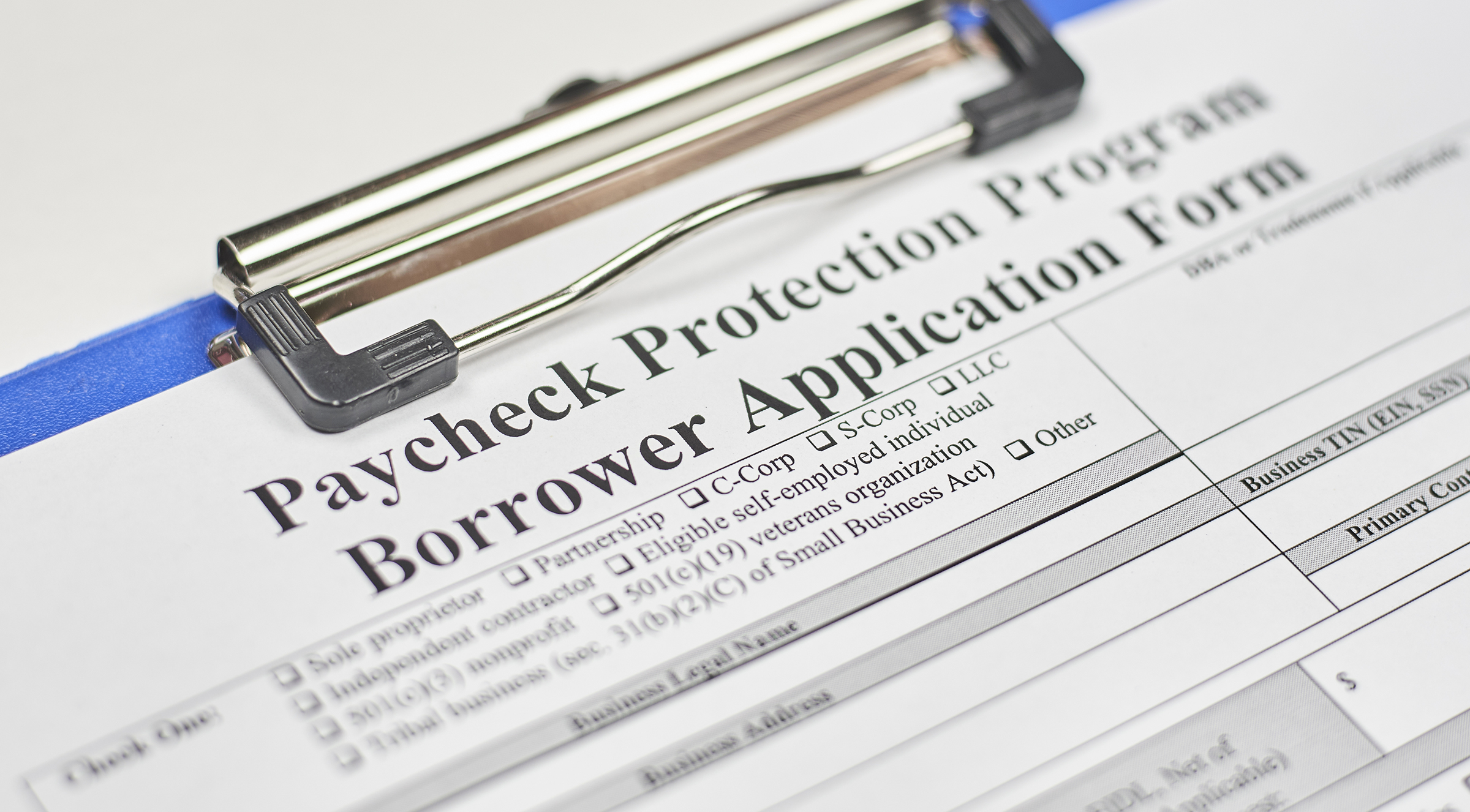 Application for Paycheck Protection Program