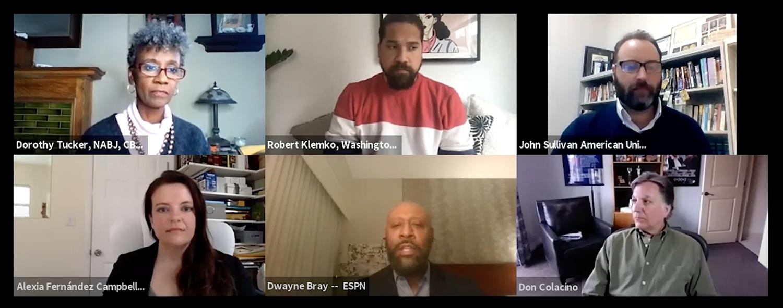 webinar panelists on screen